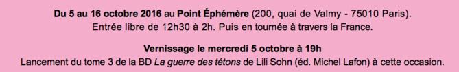 Une exposition pour changer l'image de la maladie du 5 au 16 octobre 2016 au Point Éphémère à Paris