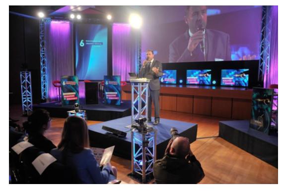 Stéphane Regnault, Président du Snitem, ouvre la sixième édition des Rencontres du Progrès Médical.