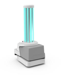 Fabriqué par les Danois de Blue Ocean Robotics, le robot de désinfection UVD est de plus en plus demandé. © Blue Ocean Robotics