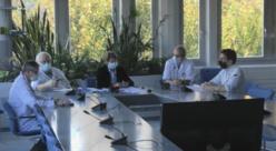À cause de la situation sanitaire, la conférence de presse tenue par le CHU d'Angers ce matin se tenait à distance. ©Capture d'écran