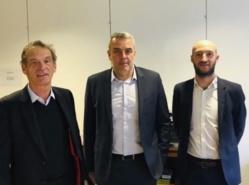 De gauche à droite : Jean-Yves Roul (Président Nicesoft), Patrice Taisson (Président Softway Medical) et Benjamin Roul Lévy (DAF Nicesoft). ©DR
