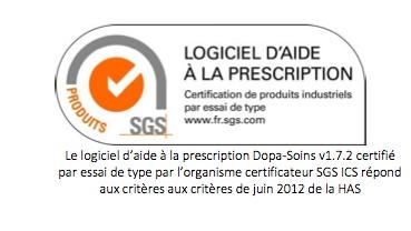 Dopa-Soins (Web100T) certifié LAP Hospitalier