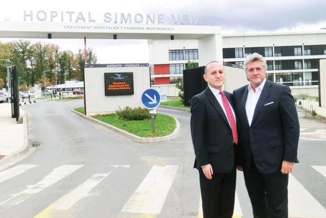 Bernard Rubinstein, Président du Groupe Prisme  et Éric Sebban, Président de Visiomed