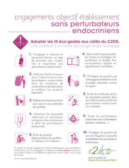 Haro sur les perturbateurs endocriniens à l'hôpital : le Comité pour le développement durable en santé (C2DS) et le Réseau environnement santé (RES) s'associent.