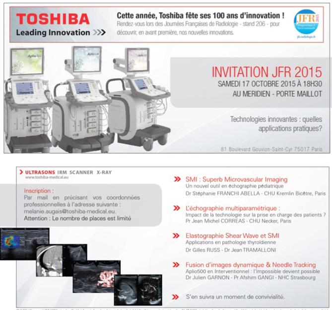 À voir sur les JFR 2015 : Toshiba