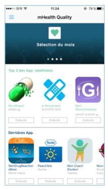 dmd Santé annonce le lancement de l'application mHealth Quality, le 1er store pour trouver facilement les meilleures applications mobiles de santé !