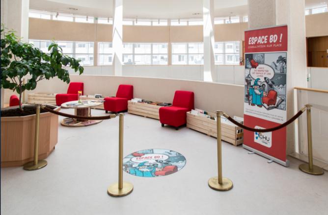 CHU de Limoges : une bédéthèque à l'hôpital