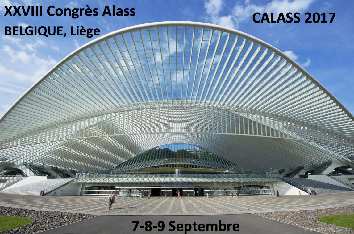 XXVIIIème Congrès ALASS du 7 au 9 septembre 2017 à Liège