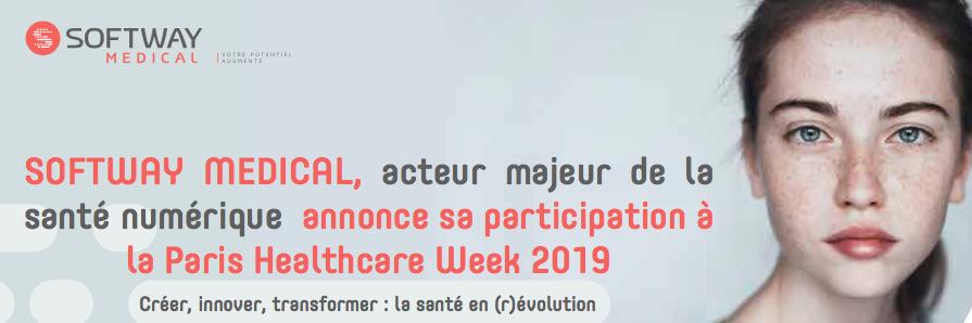SOFTWAY MEDICAL, acteur majeur de la santé numérique annonce sa participation à la Paris Healthcare Week 2019