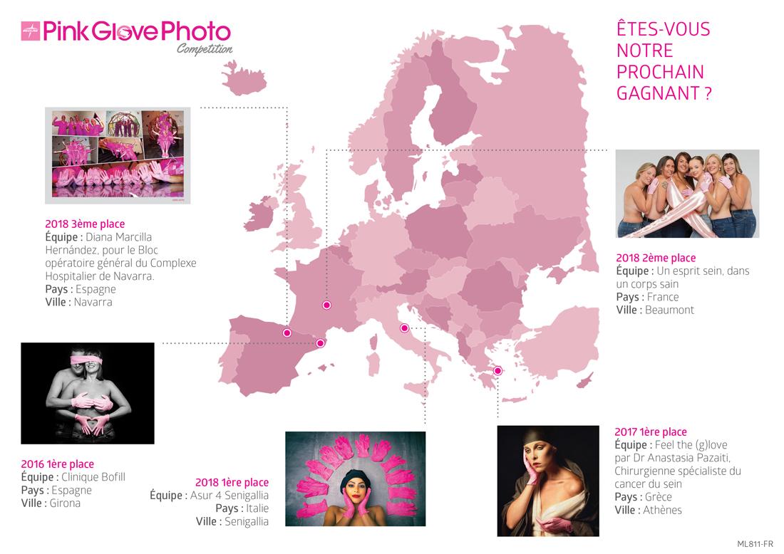 Medline Europe et son Concours Photo Pink Glove pour soutenir la prévention contre le Cancer du sein!