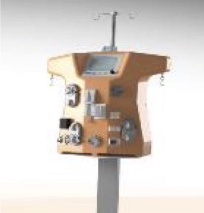 Générateur de Dialyse CA.R.PE.DI.E.M. Cardio-Renal Pediatric Dialysis Emergency Machine.