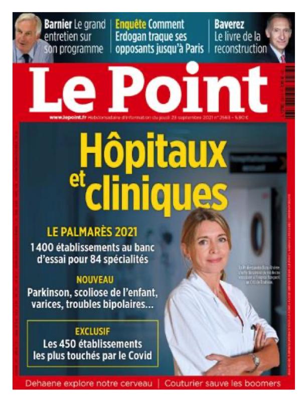 Le CHU de Toulouse à la 1ère place du classement des hôpitaux 2021