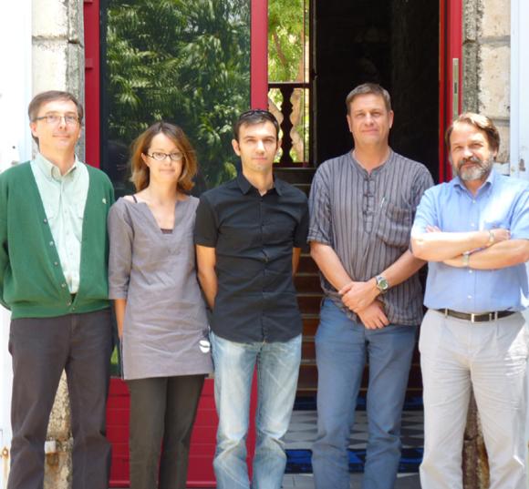 De gauche à droite : Éric Maillet (Responsable applications médicales CHU), Akselle Lachartre (Chef de projet McKesson), Yohan Faure (Consultant McKesson), Dr Olivier Fels (DIM CHU sud), Dr Michel Bohrer (DIM CHU nord).