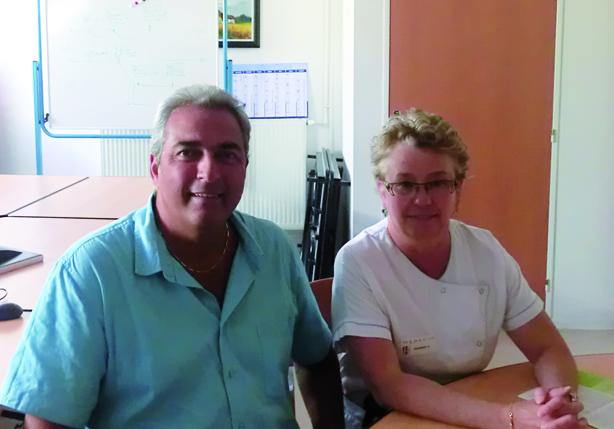 Eric Garcia et le Dr Pascale Dussert, respectivement cadre et chef de Pôle LBM