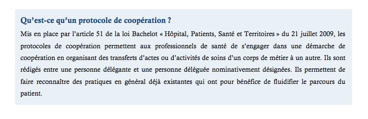 Premier protocole de coopération médecins/diététiciens