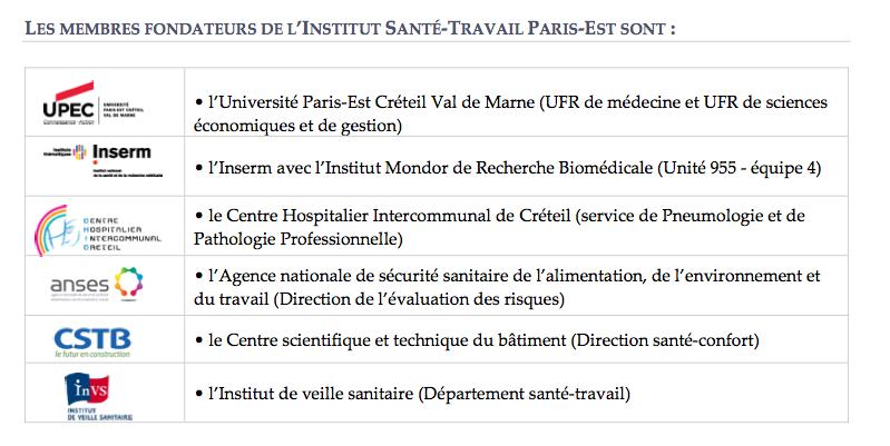 Université Paris-Est et les membres de son pôle Santé et Société inaugurent l'Institut Santé-Travail Paris-Est