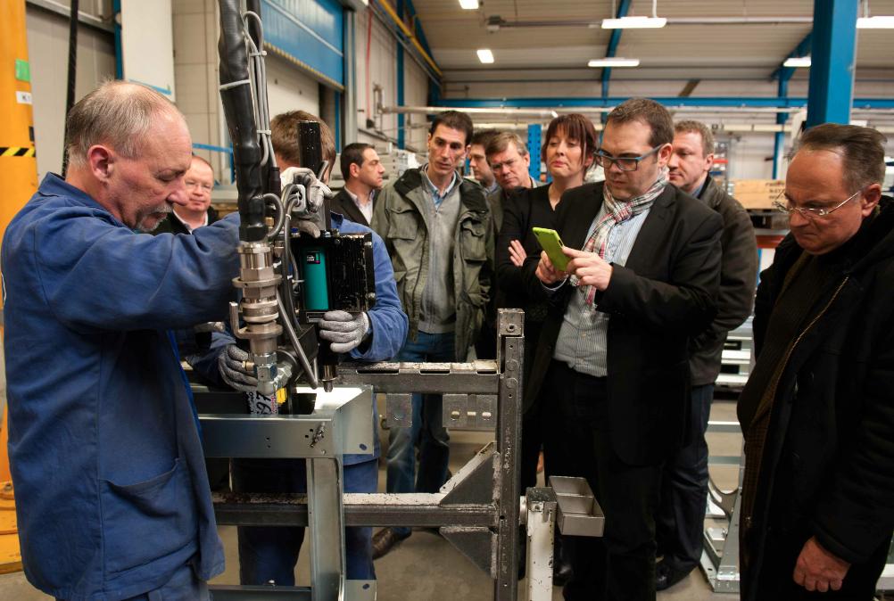 Eberhardt Frères, le plus grand partenaire d'IPSO, en visite à l'usine en République Tchèque