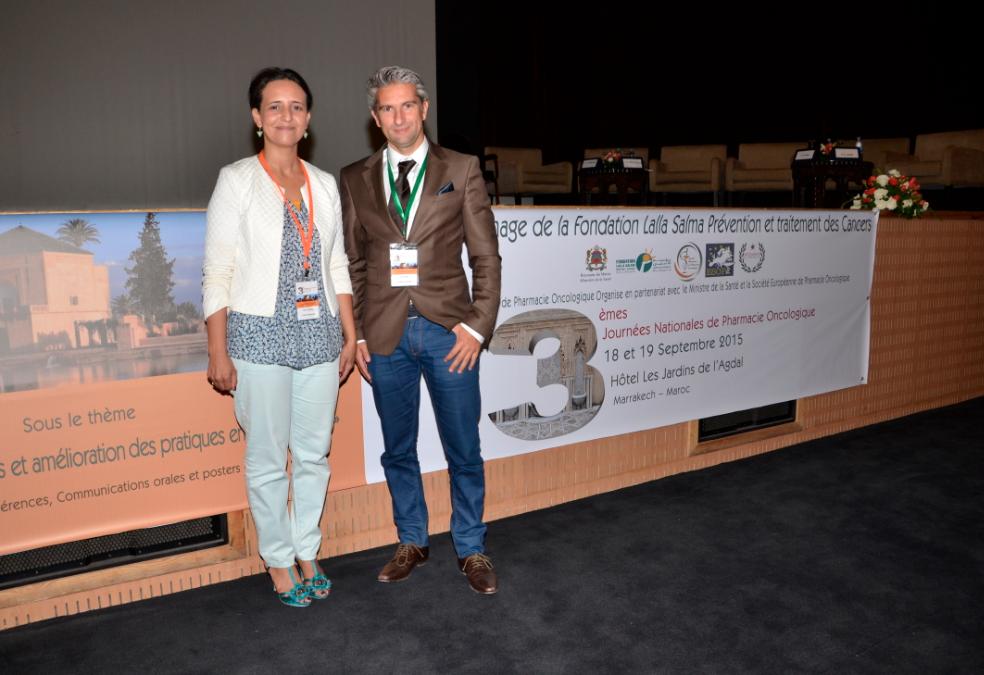 Bouchra Meddah, présidente de la SMPO, et Stéphane Ortu, président de l'Aspec