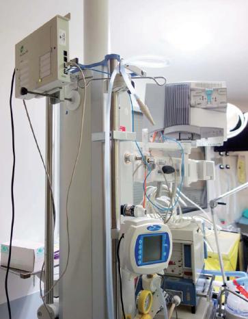 Déployée suite à un partenariat entre le Groupe PRISME, MIEL et DIGI International, cette solution intégrée permet de connecter jusqu'à huit équipements biomédicaux