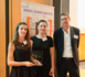 Remise du Trophée – De gauche à droite : Elodie Picourt (Chef de projet web DELABIE), Laetitia Carrier (Direction de la communication de la FNTP - Fédération Nationale des Travaux Publics), Bertrand Margot (Directeur Marketing Groupe DELABIE) - Photos Dominique Eskenazi
