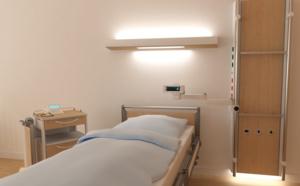 Un nouveau design de gaines têtes de lit pour une note conviviale à l'hôpital