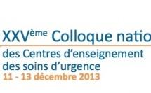 AGENDA : le 25ème Colloque des Centres d'Enseignement des Soins d'Urgence (11-13 décembre 2013, Amiens)